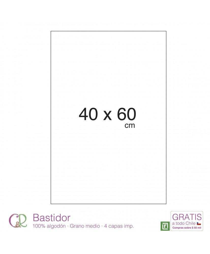 C&R: Bastidor 40x60cm 100% algodón