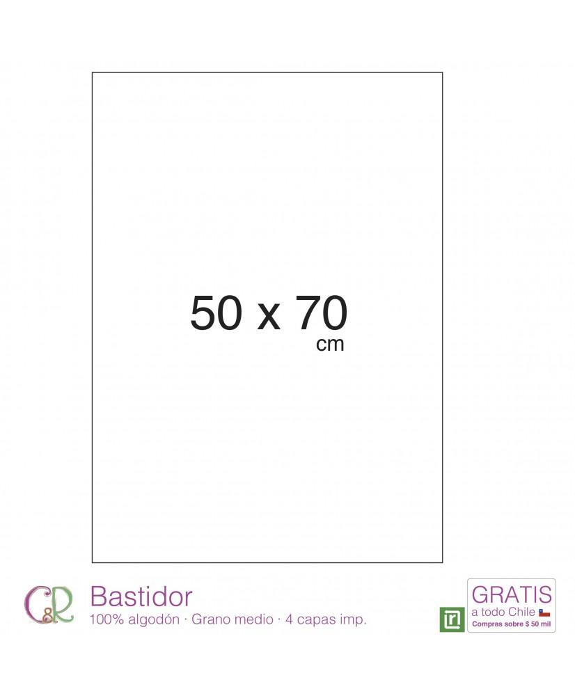 C&R: Bastidor 50x70cm 100% algodón