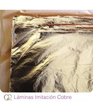 Lámina imitación cobre 16x16 cm 10 uni.