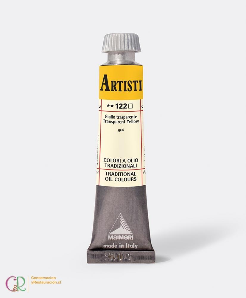 C&R: Óleo 122 - Transparent Yellow 20ml- Artisti Maimeri
