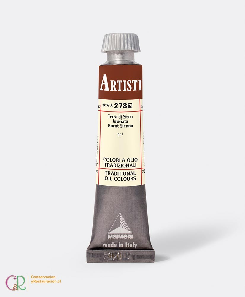 C&R: Óleo 278 - Burnt Sienna 20ml- Artisti Maimeri