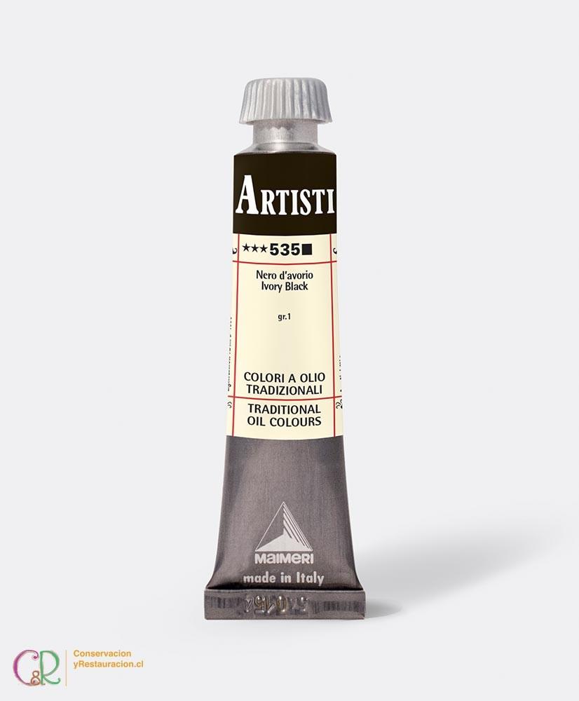 C&R: Óleo 535 - Ivory Black 20ml - Artisti Maimeri