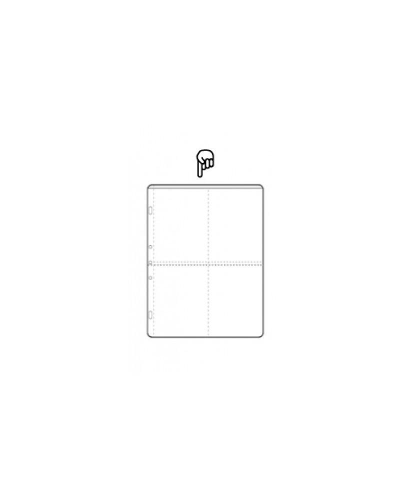 Hoja álbum polipropileno de 4 sectores de 100x150mm cada uno