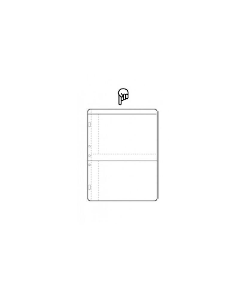 Hoja álbum polipropileno de 2 secciones de 180x130mm