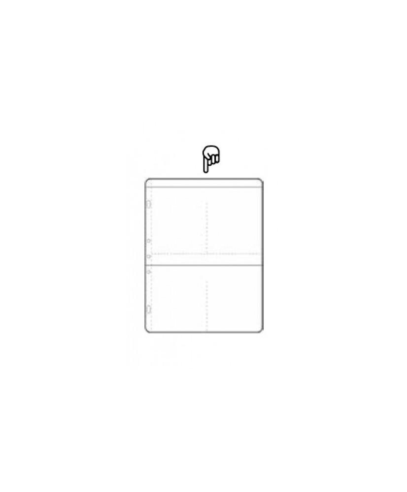 Hoja álbum polipropileno de 4 secciones de 89x133 mm