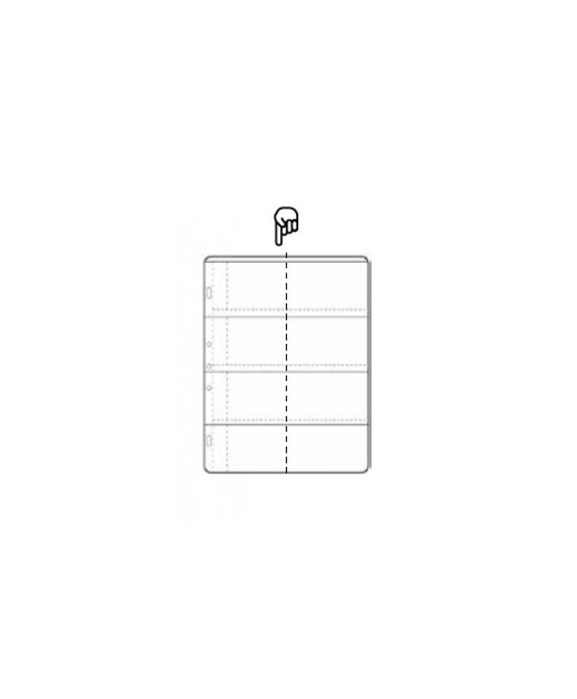 Hoja álbum polipropileno de 8 secciones de 89x69 mm