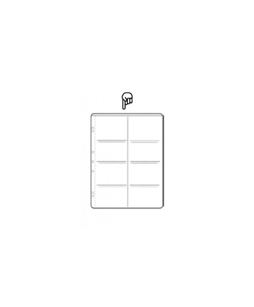 Hoja de álbum polipropileno de 8 secciones de 105x69 mm