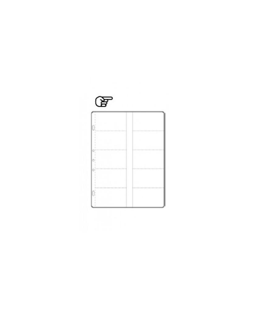 Hoja de álbum polipropileno de 10 secciones de 85x55mm