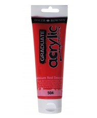 C&R: Acrílico Cadmium Red Deep Hue (504) 120ml Graduate Daler-Rowney