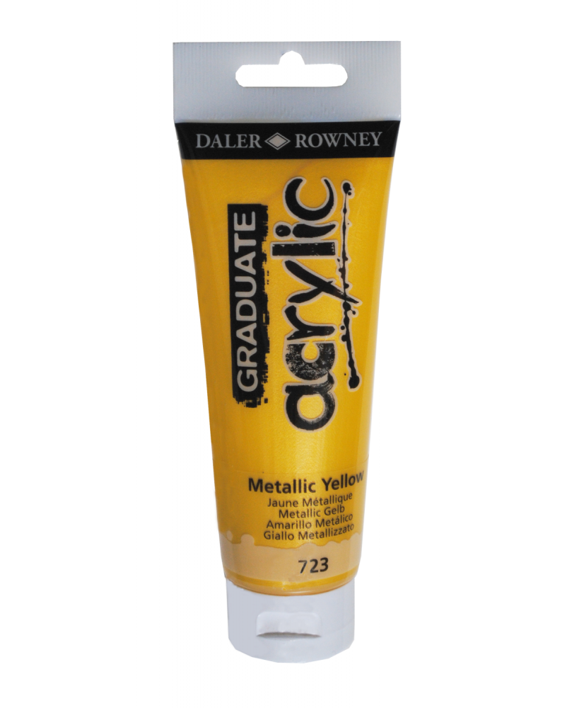 C&R: Acrílico Metallic Yellow (723) 120ml Graduate Daler-Rowney