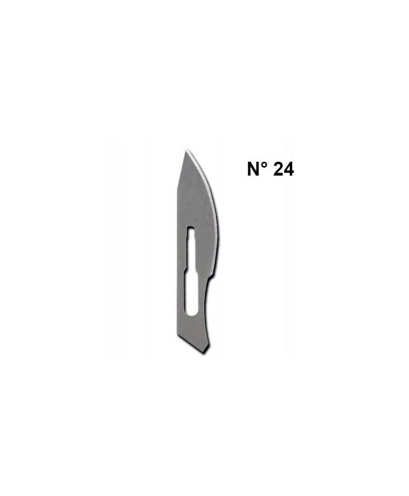 C&R: Hoja N 24 para bisturí mango N°4