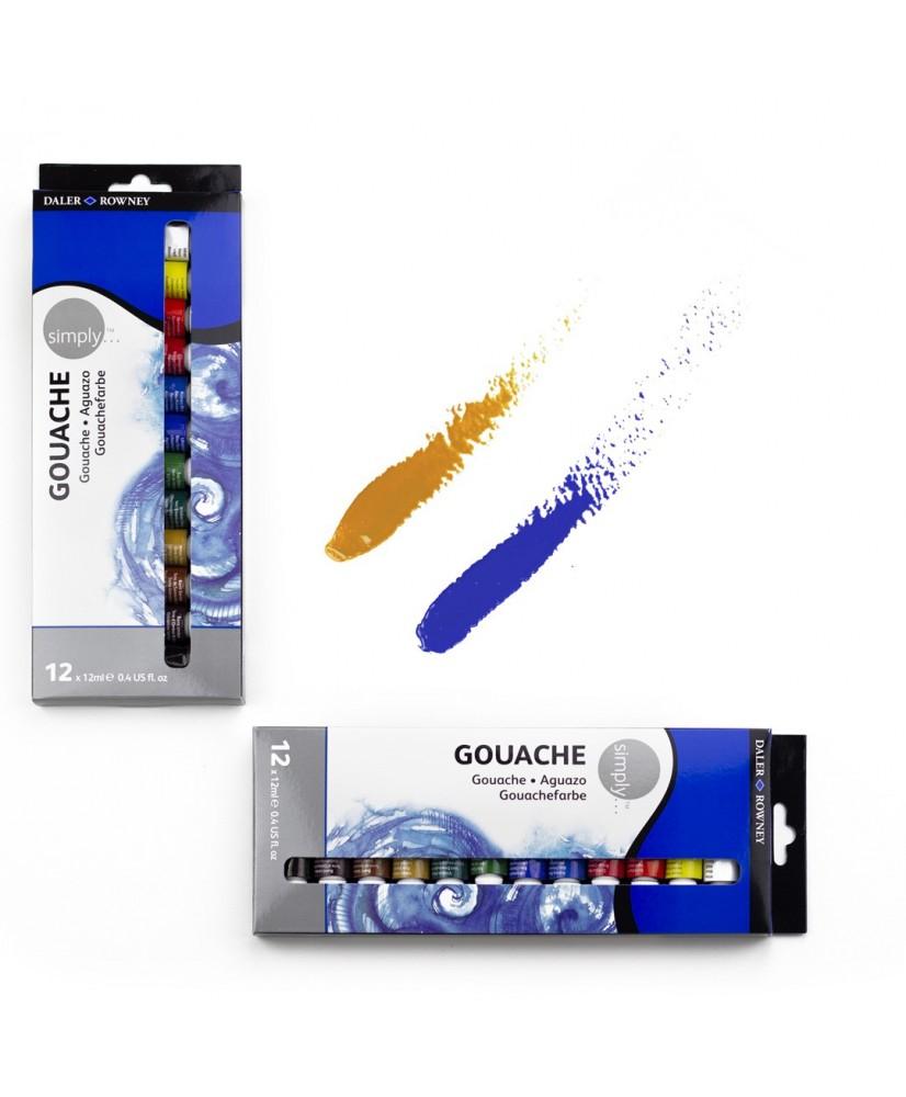 C&R: Set Simply Gouache12 colores Daler-Rowney