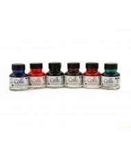 C&R: Set Tinta Caligráfica Calli 6 Colores Daler Rowney