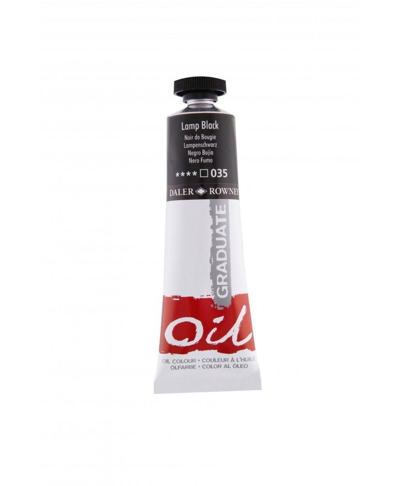 C&R: Óleo Lamp Black (035) 38ml Graduate Daler-Rowney