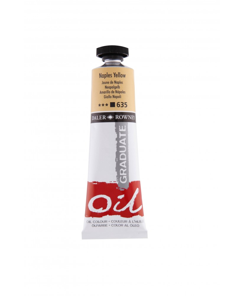 C&R: Óleo Naples Yellow (635) 38ml Graduate Daler-Rowney