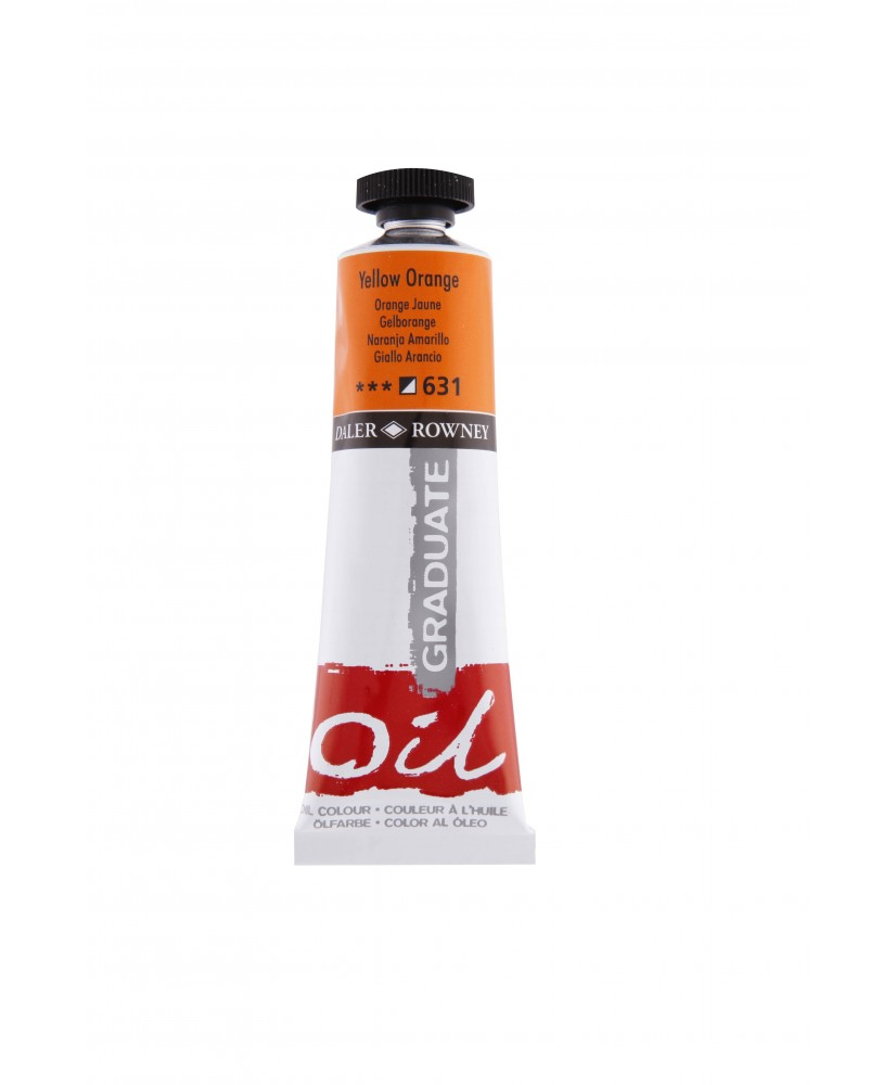 C&R: Óleo Yellow Orange (631) 38ml Graduate Daler-Rowney