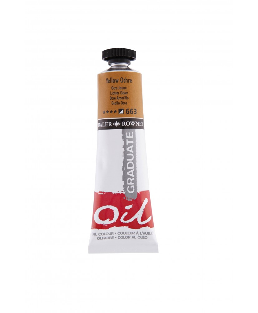 C&R: Óleo Yellow Ochre (663) 38ml Graduate Daler-Rowney