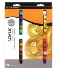 C&R: Set Simply Acrylic 24 colores Daler-Rowney