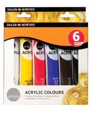 C&R: Set Simply Acrylic 6 colores Daler-Rowney