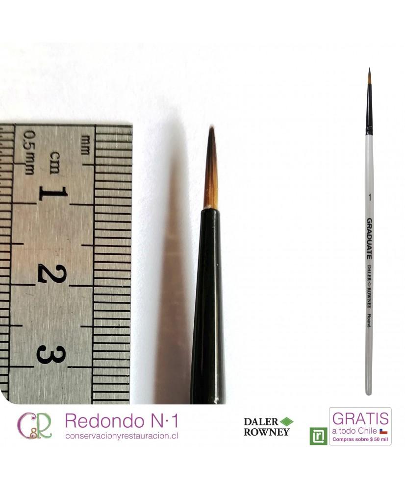 C&R: Pincel Redondo N° 1 Mango corto Graduate – DALER ROWNEY