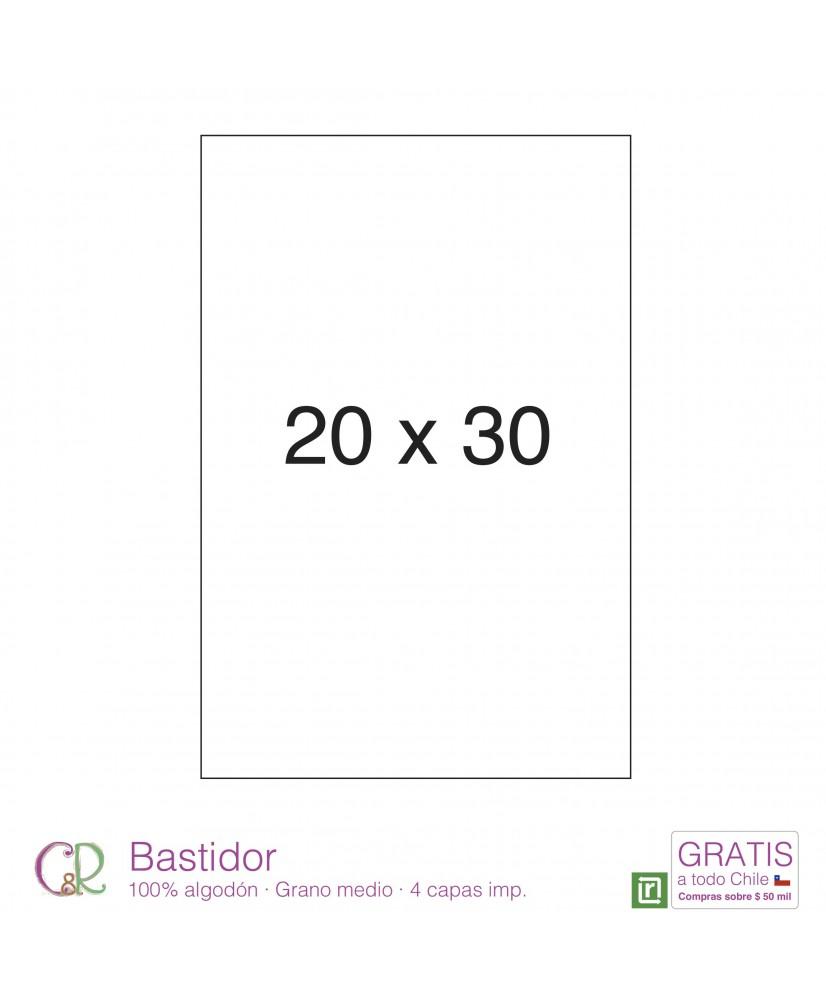 C&R: Bastidor 20x30cm 100% algodón