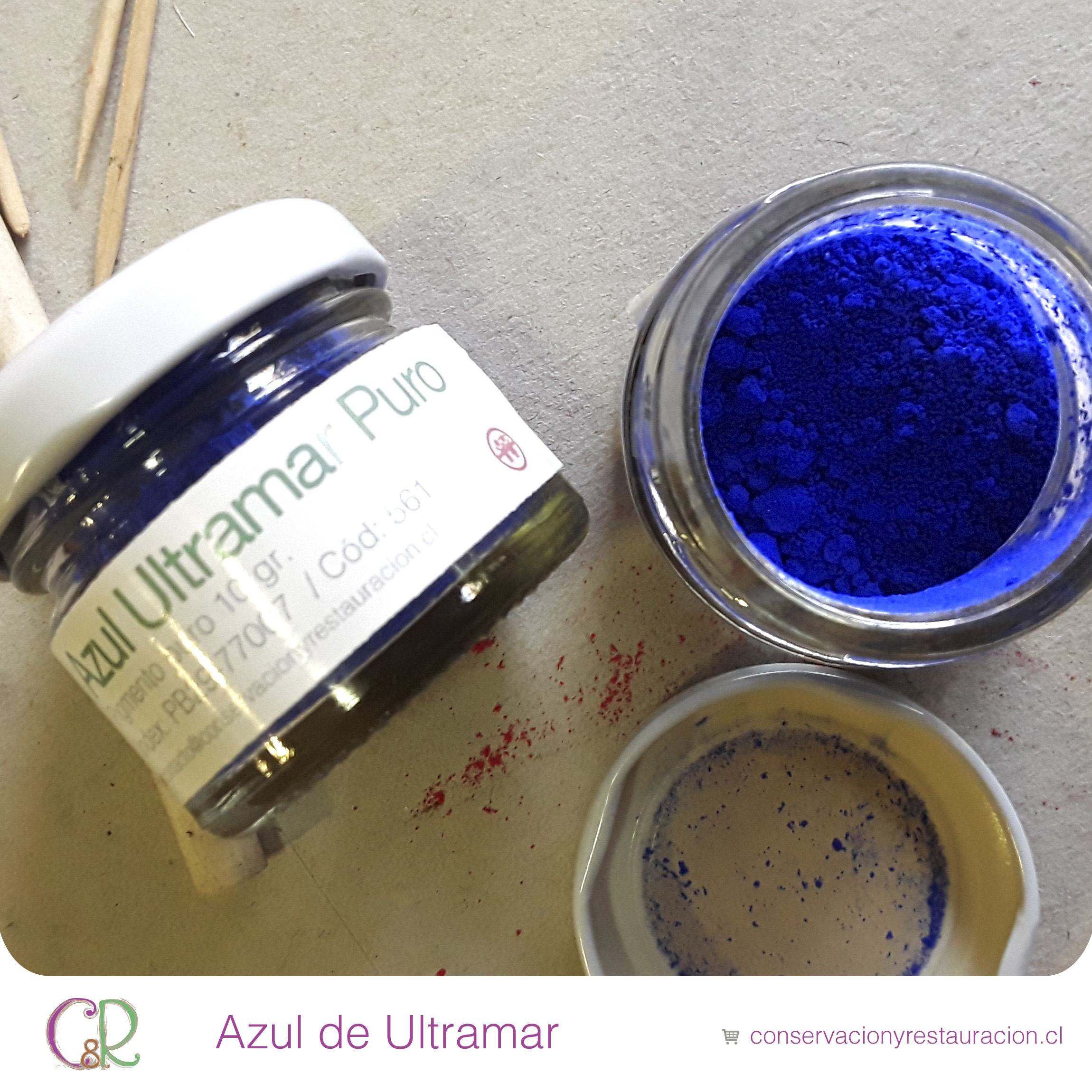 Azul de Ultramar Pigmento en Chile